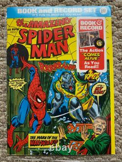 1970s Marvel Comic Book And Record 11 Sets of Books with Records