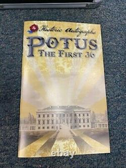 2020 Historic Autographs POTUS The First 36 Complete Set /499, Book & Lock Box