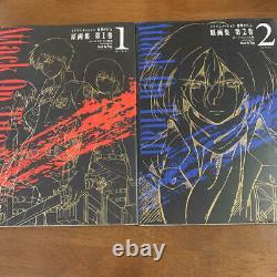 ATTACK ON TITAN / Shingeki No Kyojin Art Book Complete Set vol. 1-5 from Japan