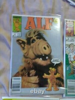 Alf Marvel Comic Books Lot Complete Set! #1-50 + #1-3 annuals #48 Banned