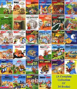 Asterix Books Set Collection-Brand New 34 Comics Books by Rene Goscinny- English