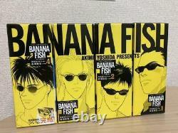 BANANA FISH Complete Set Reprinted BOX VOL 1-4 Manga Comics Anime Japanese used