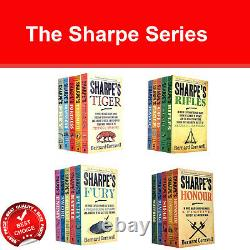 Bernard Cornwell The Sharpe Series 21 Books Collection Set of 1 to 21 Books pack