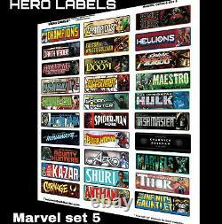 Comic Book Storage Box Divider HERO Labels Brand Master set 510 LABELS! 17 SETS