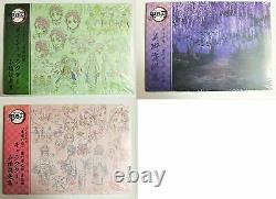 Demon Slayer Kimetsu no Yaiba Art Book Character Sheets set of 3 books C98