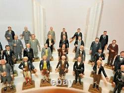 ENTIRE SET + ORIGINAL DISPLAY, 36 Marx Presidents, America 1960's + BOOK ADDED