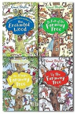 Enid Blyton The Magic Faraway Tree Collection 4 Books Set Pack Children Book