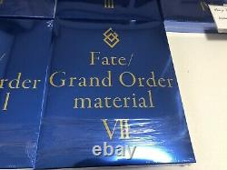 Fate Grand Order Material 1 to 9 set art book fgo type moon japanese anime