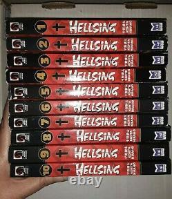 Hellsing Manga Complete Set 1st Edition RARE English 1-10 Books