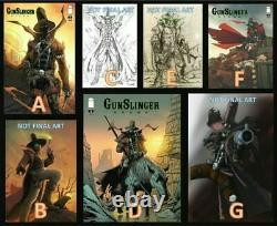 Image GUNSLINGER SPAWN #1 Cover A/B/C/D/E/F/G 150 1250 Signed Comic Book Set