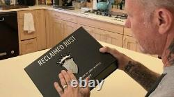 James Hetfield Signed Autographed Reclaimed Rust Collectors Set Book Metallica
