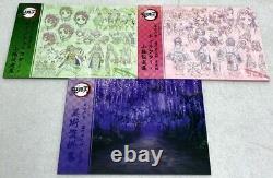 Kimetsu no Yaiba Demon Slayer Art Book Character Sheets 3 set books