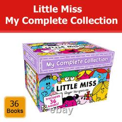 Little Miss My Complete Collection 36 Books Box Set by Roger Hargreaves Pack NEW