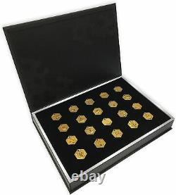 Medabots S Medal Pins 20 Types Set + Book Type Case Japan New with Tracking