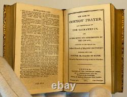 Miniature Holy Bible Common Prayer Set, 1837 Antique Leather Collectible Books