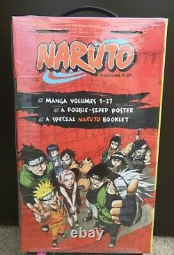NARUTO English Manga Complete Box Set Vol 1-27 NEW SEALED