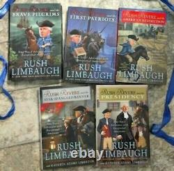 RUSH REVERE 5 HARDCOVER BOOK SET (COLLECTION) by Rush Limbaugh BRAND NEW