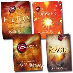Rhonda Byrne The Secret Series Collection 4 Books Set Hero, Power, Magic, Secret