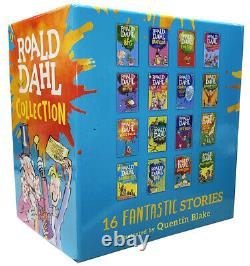 Roald Dahl 16 Book Collection Gift Set Pack Children's Charlie chocolate Factory