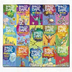 Roald Dahl Collection 15 Books Box Set Going Solo, Matilda, Witches, Twits NEW