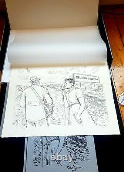 SIGNED Bob Dylan Mondo Scripto box set lithograph book handwritten lyric drawing