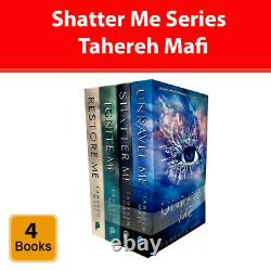 Shatter Me Series Tahereh Mafi 4 Book Collection Set Restore Ignite Unravel NEW