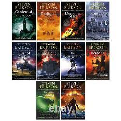 Steven Erikson 10 Book Collection Set(Vol. 1-10)(The Malazan Book of the Fallen)