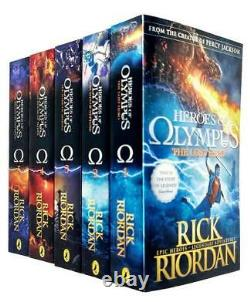 The Heroes of Olympus The Complete 5 Books Collection Set By Rick Riordan NEW