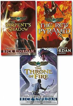 The Kane Chronicles Collection Rick Riordan 3 Books Set Red Pyramid, Throne Fire