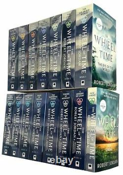 The Wheel of Time Series 1-15 Books Collection Set Pack by Robert Jordan PB NEW